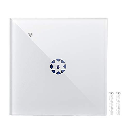 Interruptor de luz táctil de un Solo Polo, Compatible con el Interruptor de Control Remoto de Alexa, para Bombillas Regulables para el hogar(White)