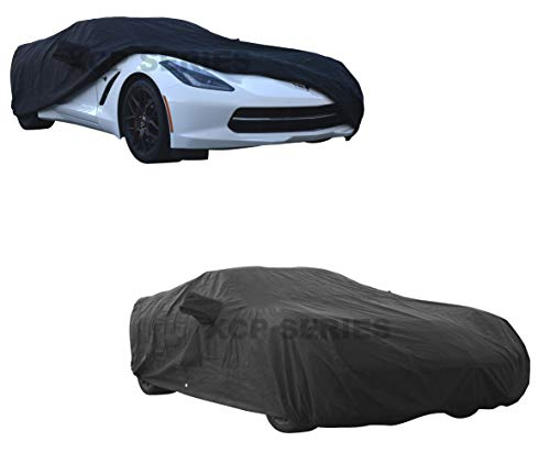 XtremeCoverPro Custom CAR Cover for 2014~2018 Chevrolet Chevy Corvette Coupe Convertible C7 – UV Resistant – Breathable Fabric (Waterproof Platinum Series Black)