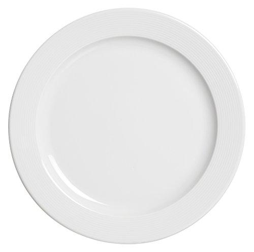 Excelsa Wing Assiette Plate, Porcelaine, Blanc, 25,5 x 25,5 x 1,5 cm