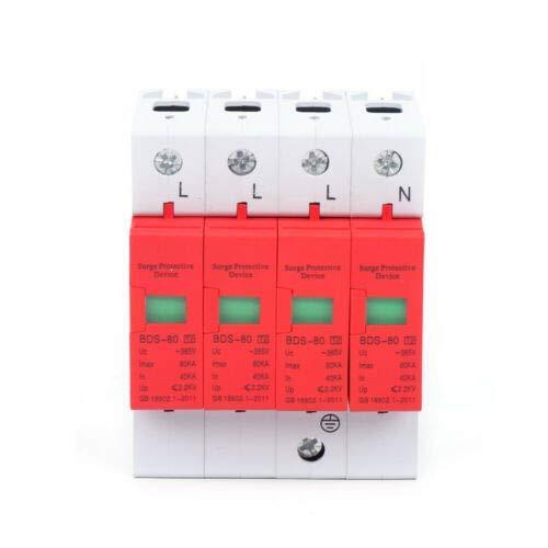 Blitzschutz Überspannungsschutz Home 80KA Haus Überspannungsschutz Gerät Blitzschutz 385VAC