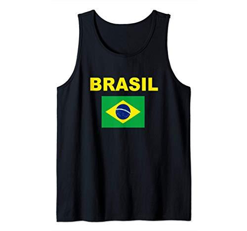 Bandiera Brasile Brazil Bandeira Brasileira Uomo Donna Canotta