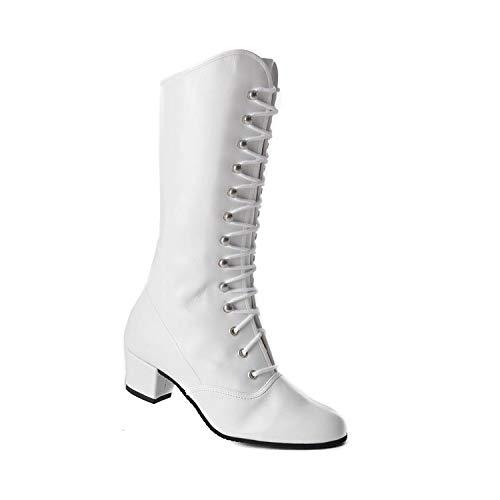 Kochmann Majorette Leder Tanzschuhe Stiefel Tanzen Gardestiefel Schuhe weiß 41