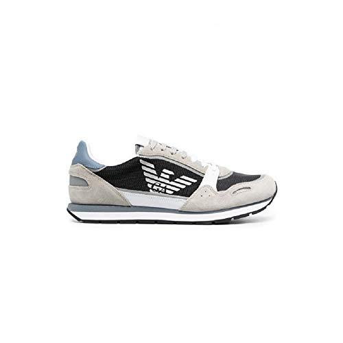 Emporio Armani X4X537 XM678 - Zapatillas de piel con logotipo para hombre Size: 42 EU
