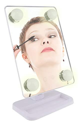 Espelho para maquiagem Vivitar Vanity Mirror com iluminação por LED e rotação 360° - Branco, VIVITAR, Branco