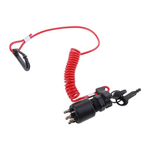 Mizuho 175974 5005801 Interruptor de Encendido y Montaje de la tecla con Ajuste de cordón for OMC Johnson EvinRude 40-200HP Motor Externo