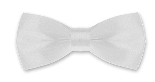 Autiga® Fliege Kinder Kinderfliege Hochzeit Konfirmation Schleife Schlips verstellbar Anzug Smoking weiß