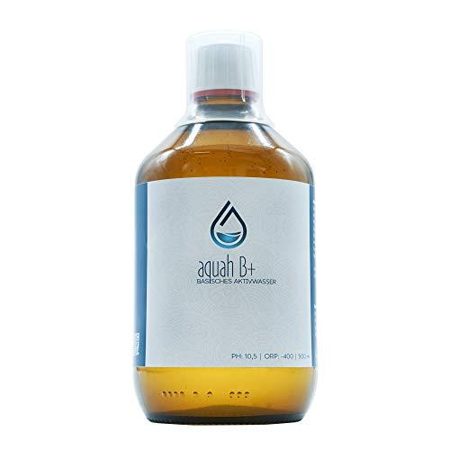 aquah B+ Hochwertiges basisches Wasser mit dem Plus an Wasserstoff | Aktiv-Basen Konzentrat | Energie Booster & Detox | Premium Hydrogen Aktivwasser 500 ml