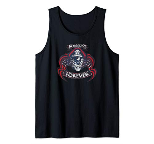 Bon Jovi Forever Skull Tank Top, Unisex, S to 2XL