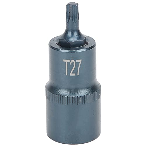 Vaso de destornillador, herramienta de hardware de liberación rápida hexagonal cuadrada de acero aleado S2 con tratamiento azul para usar en llaves, 1/2 pulg.(T27)