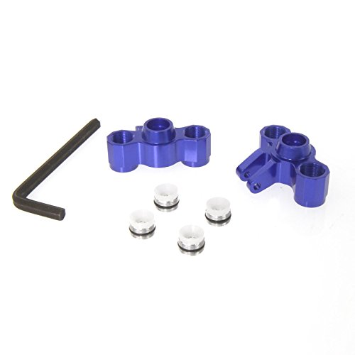 Slash 4X4 1:16 Aluminum Alloy Front/Rear Axle Carriers Hop Up Upgrade, Blue by Atomik RC - Replaces Part 7034