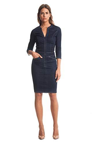 salsa jeans Damen Secret Kleid, Blau (Azul 8504), X-Small