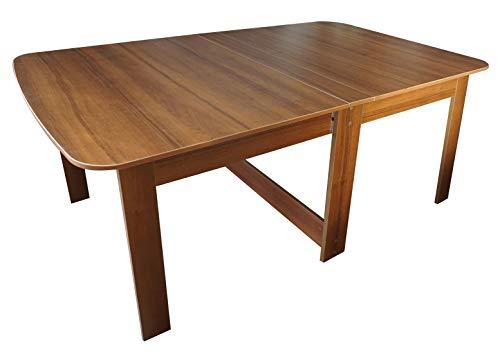 Rodnik Esstisch ausklappbar - Holzoptik- Nussbaum - Klapptisch - Tisch - Küchentisch - Funktionstisch CK-1
