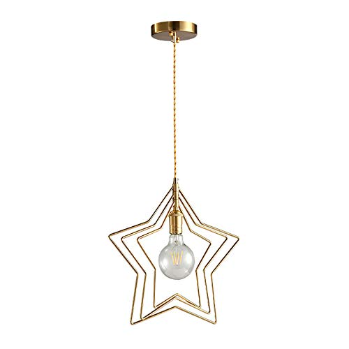 Not application Candelabro en Forma de Estrella, candelabro pequeño Simple, candelabro Dorado, portalámparas estándar E27, para Dormitorio, Sala de Estar, Restaurante, cafetería