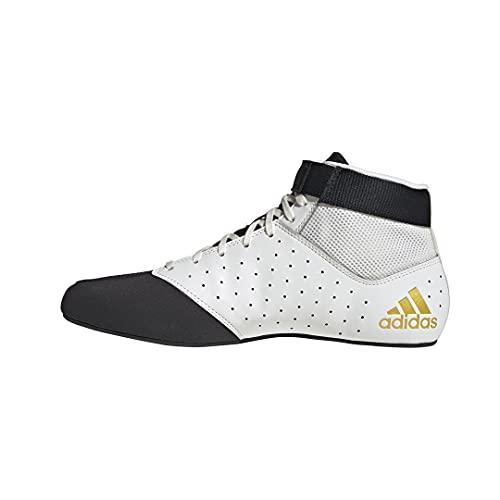 adidas Herren Mat Hog 2.0 Wrestling-Schuh, Schwarz (Schwarz/Mattgold/Weiß), 44 EU