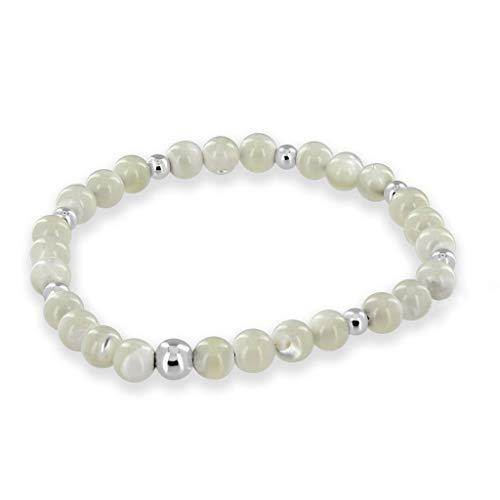 "G1443 Abalone shell pendant chain earrings beaded necklace set 18/"""