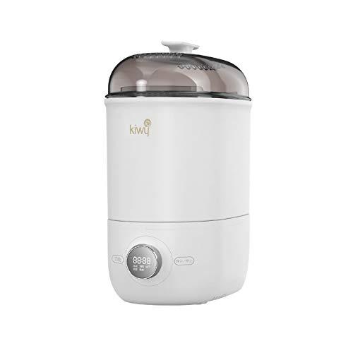 Kiwy Caesar BT2001, Sterilizzatore 4 in 1,Fino a 6 Biberon,500W,Controllo Tempo Preciso,Filtro Aria,Display a LED,Senza BPA,Multi Combinazioni,Bianco