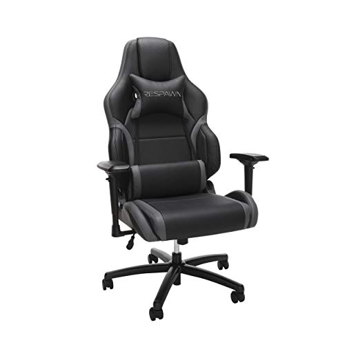 RESPAWN RSP-400 Big and Tall Racing Style Gaming Chair, Gray