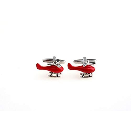 Ducomi Gemelli Uomo - Gemelli da Polso per Camicia Ultraleggeri - Originali di Alta Qualità - Idea Regalo - Tanti Modelli per Ogni Occasione (Elicottero)