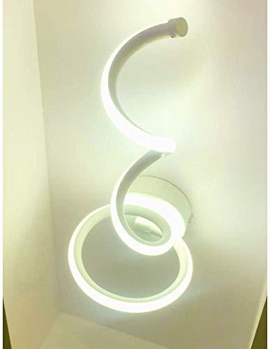Lampada da parete LED con design moderno Spirale, ideale per camera da letto, corridoio, salone - Potenza 12W, 960Lm, IP20 15x18x33,7 cm