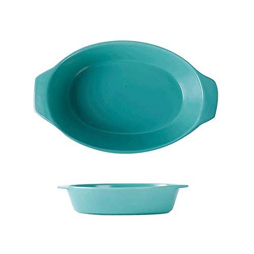 WQF Plateau de Cuisson en céramique 2 pièces de Riz cuit au Four Plat de Cuisson Assiette de Salade de Fruits Plat de Service Assiette de Poisson boîtes à gâteaux (Couleur: A, Taille: