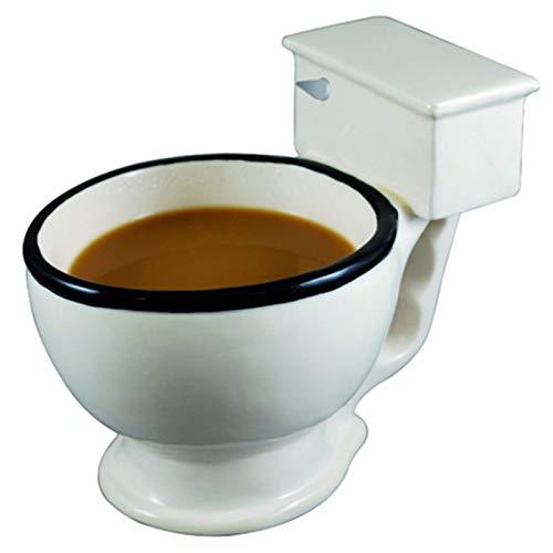 ARONTIME Taza de café con forma de inodoro para cumpleaños, Navidad, divertida y creativa taza de cerámica, regalo para hermanas, amantes, profesores