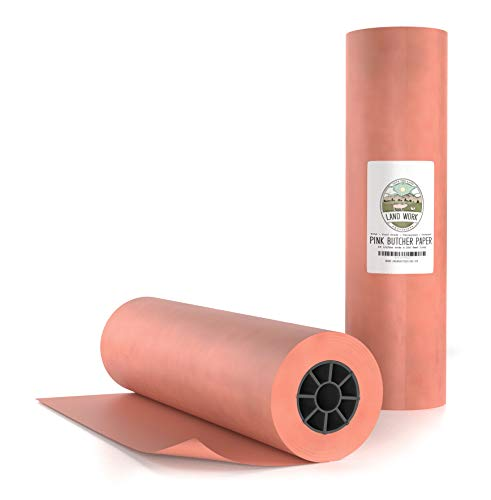 Peach Butcher Paper Roll 18' X 200' FEET, Made in USA - Pink Butcher Paper for Smoking Meat -...