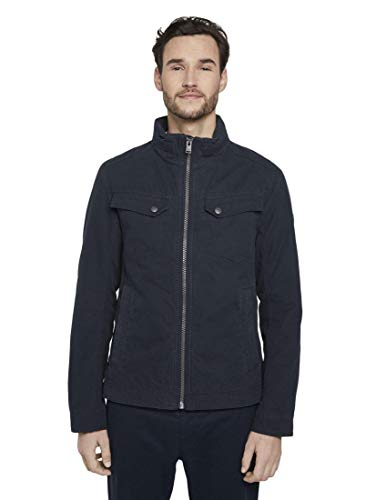 TOM TAILOR Herren Jacken Moderne Canvas-Jacke Sky Captain Blue,XL