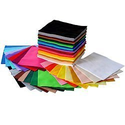 Special Assorted felt pack - 15 x A4 soft durable Crafkit? felt sheets in 15 assorted colours