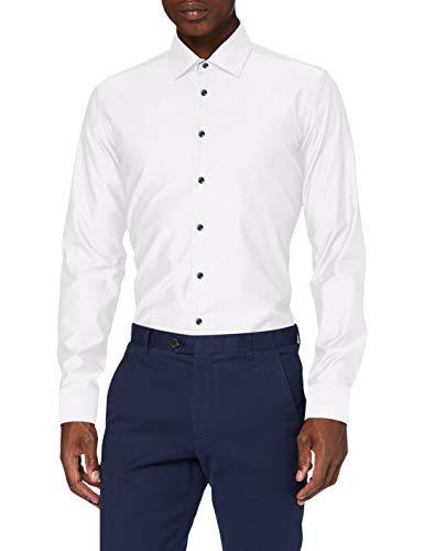 Seidensticker Herren Business Hemd, Weiß, 39