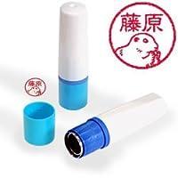 【動物認印】プレーリードッグ ミトメ1 ホルダー:ブルー/カラーインク: 赤
