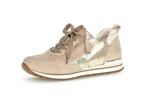 Gabor Damen Halbschuhe, Frauen Sneaker,Moderate Mehrweite (G),schnürschuhe,schnürer,Halbschuhe,straßenschuhe,Desert/Platino(Sp),43 EU / 9 UK