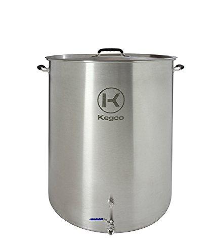 Kegco 50 Gallon Brew Kettle with Plug & 2-Piece Ball Valve