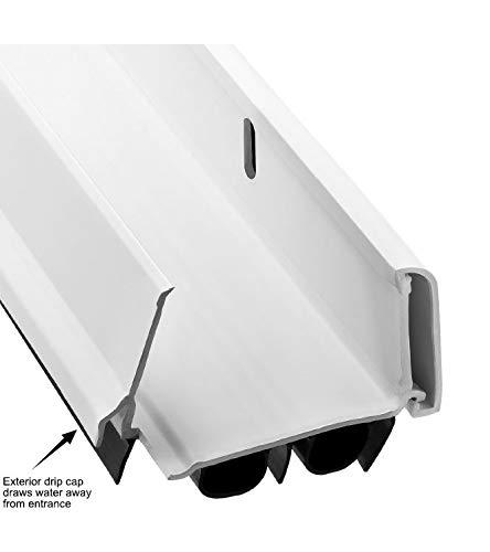 """New: KS Hardware,Patent Pending, Adjustable Double Bubble Door Sweep, Draft Stopper, Under Door Seal for Exterior Doors, 1 3/4"""" x 36"""", White (36 inch)"""