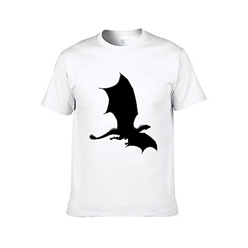 Heren Draak met Vleugels Vliegende Silhouette T-Shirt Tiener Volwassen Grafische Tops Casual Tee
