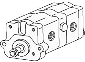 3701005M91 Tandem Hydraulic Pump Made to Fit Massey Ferguson 1080 1085 165 175 180 235 +