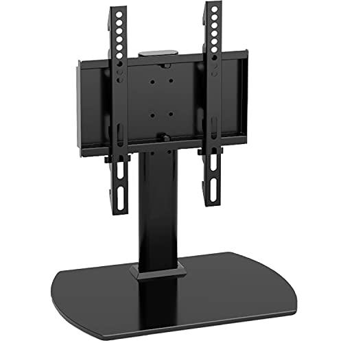 RFIVER Soporte Pie TV de Mesa Peanas para TV de 20 a 43 Pulgadas con Giratorio y Altura Ajustable MAX vesa 200 x 300 mm UT2003