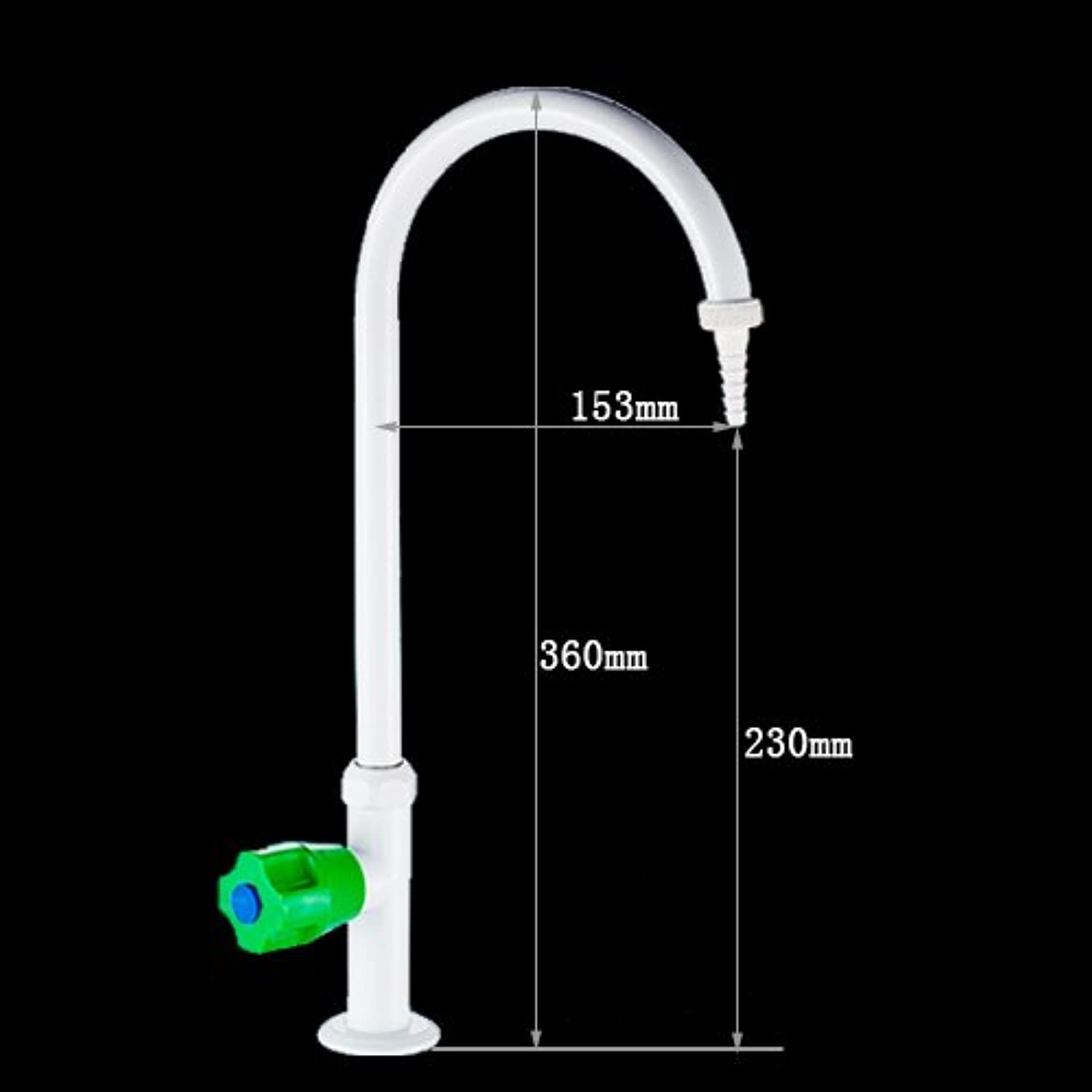 JWLT All copper bench type laboratory faucet, single joint testing tap, laboratory nozzle, nozzle,8101 special white
