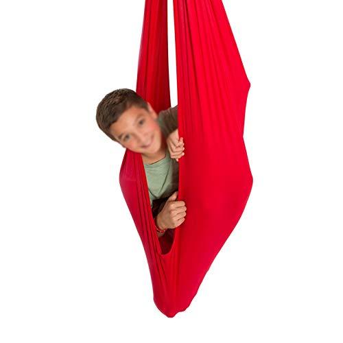 YAWEDA Oscilación Interior Terapia Física para Niños con Necesidades Especiales Abrazo Hamaca Columpio para Asperger TDAH Autismo (Color : Red, Size : 100x280cm/39x110in)