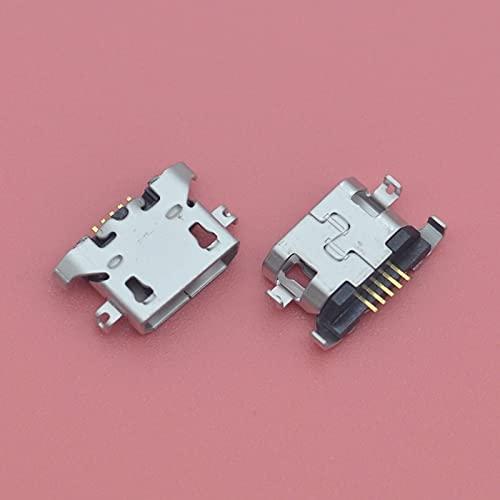RONGW JKUNYU Conectores electrónicos 100pcs Micro USB 5PIN Cargador DE Puerto DE Cargo Conector para Motorola Moto E3 G5 XT1672 XT1676 G4 Play XT1600 XT1601 Dock de Cargador