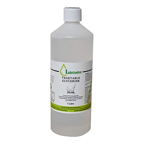 1 Litre Vegetable Glycerine 100% Pure EP/USP Food/Cosmetic Grade, Non-GMO, Odourless & Colourless (1 Litre)