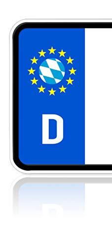 Ritter Mediendesign 2 Stück Bayern Aufkleber Bavarian Sticker Plakette Nummernschild Waschstrassenfest
