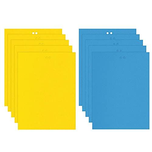 Kaimeilai tavole gialle trappole per insetti appiccicosi, mosche adesive gialle, trappola per mosche gialle, tappi gialli Carte per combattere moscerini di funghi, colla per bruco