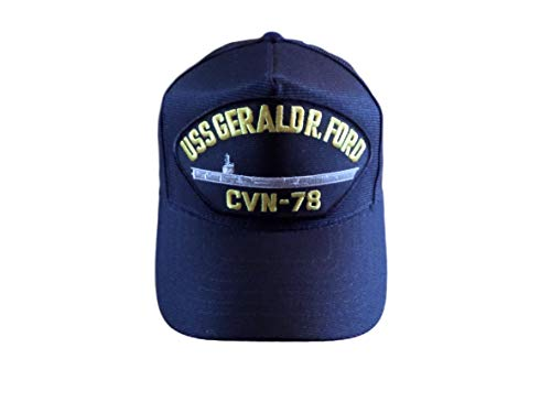 USS Gerald R Ford CVN-78 Navy Ship HAT U.S Military Official Ball Cap U.S Made