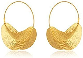 925 Silver Gold Plated Fulani Earrings for Women Gift Jewelry