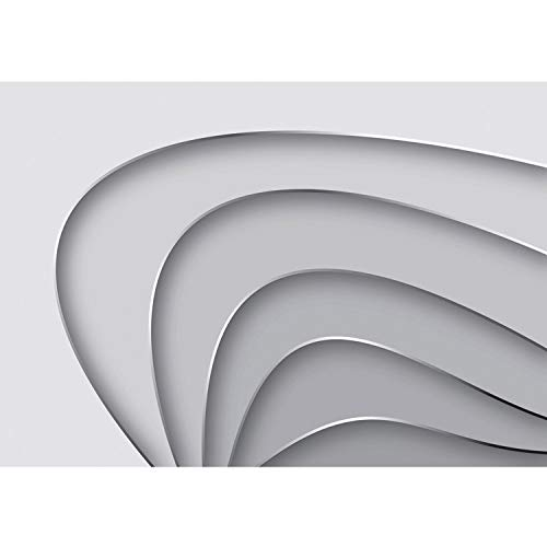 Premium Plus Fleece Photo Wallpaper Wall Mural Photo Wallpaper–Abstract Striped Bow Design Art Modern 3D–No. 807, weiß, 400x280cm Vlies