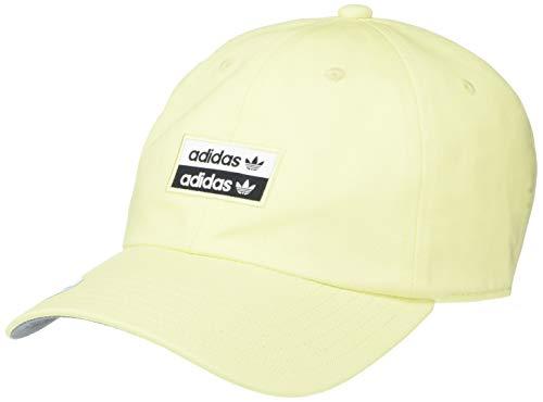 adidas Originals Herren Originals Stacked Forum Strapback Cap Mütze, Ice Yellow/Black/White, Einheitsgröße