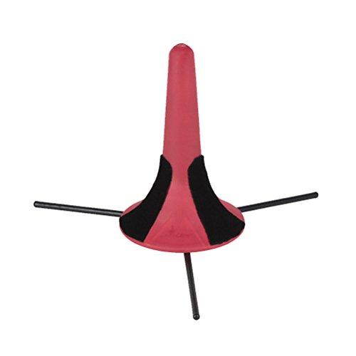 Healifty Trompetenhalter Ständer mit Abnehmbaren Faltbaren Metallstativ für Trompete Blasinstrument Zubehör (Rot)