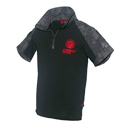 Cobra Tactical Solutions|Fenrir Assault Combat Shirt | Taktisches Militär T-Shirt Kurzarm mit Reißverschluss für Männer| Airsoft Shirt, Größe M