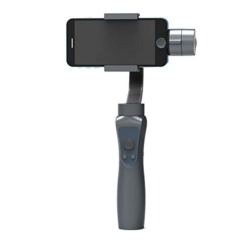 DYHM Palo autofoto Estabilizador del cardán Gimbal de 3 Ejes Lisos autofotos de Montaje en cámara Portátil de 3 Ejes para estabilizador de teléfono (Color : Black)
