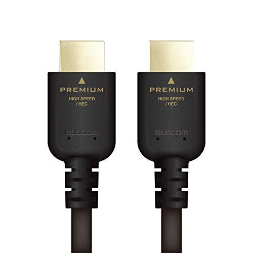 エレコム HDMI ケーブル 1.5m プレミアム 4K2K/60p UltraHD 3DフルHD 【PS4/Xbox360/Nintendo Switch対応】 ノイズ軽減 ブラック DH-HDPS14E15BK